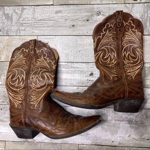 Ariat western pointed toe leather cowboy boots